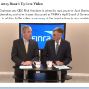 FINRA Video Update Apr 2015